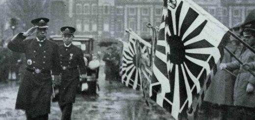 01 Feb 1935, Japan --- Adm. Isoroku Yamamoto salute the colors upon his return to Tokyo from the London Naval Conference in February 1935. (Photo by Kingendai Photo Library/AFLO)[2373] --- Image by © Kingendai/AFLO/Nippon News/Corbis